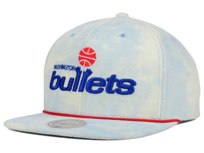 Washington Bullets Mitchell and Ness NBA Light Acid Snapback Cap