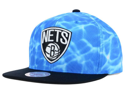 Brooklyn Nets Mitchell and Ness NBA Big Wave Snapback Cap