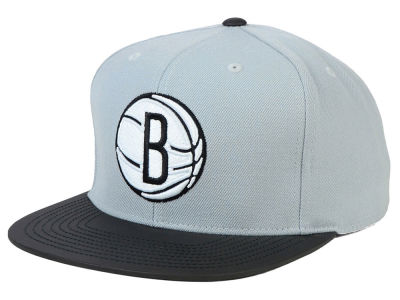 Brooklyn Nets Mitchell and Ness NBA Slate Reflective Fitted Cap