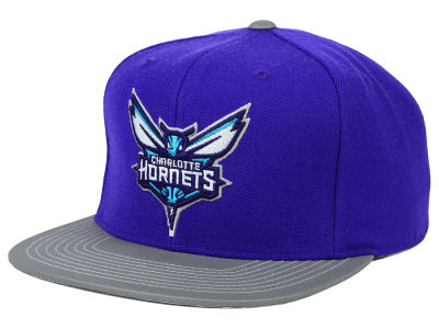 Charlotte Hornets Mitchell and Ness NBA Slate Reflective Fitted Cap