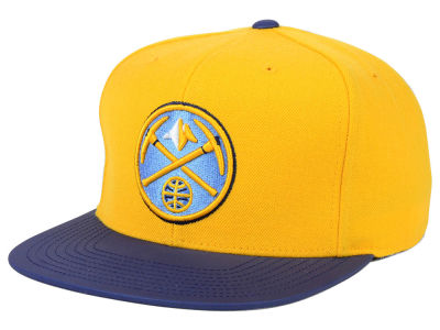 Denver Nuggets Mitchell and Ness NBA Slate Reflective Fitted Cap