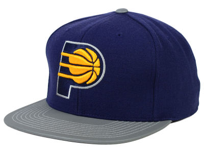 Indiana Pacers Mitchell and Ness NBA Slate Reflective Fitted Cap