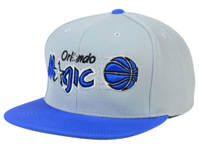 Orlando Magic Mitchell and Ness NBA Slate Reflective Fitted Cap