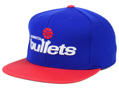 Washington Bullets Mitchell and Ness NBA Slate Reflective Fitted Cap