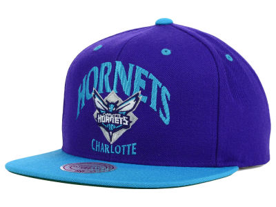 Charlotte Hornets Mitchell and Ness NBA Arch 2 Tone Snapback Cap