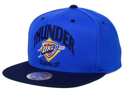 Oklahoma City Thunder Mitchell and Ness NBA Arch 2 Tone Snapback Cap
