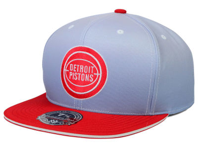 Detroit Pistons Mitchell and Ness NBA Faded 2 Tone High Crown Fitted Cap