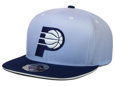 Indiana Pacers Mitchell and Ness NBA Faded 2 Tone High Crown Fitted Cap