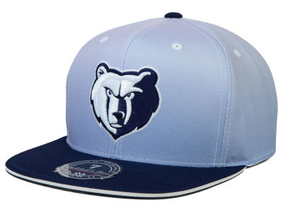 Memphis Grizzlies Mitchell and Ness NBA Faded 2 Tone High Crown Fitted Cap