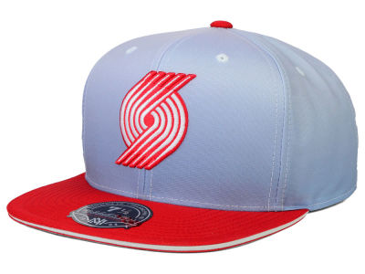 Portland Trail Blazers Mitchell and Ness NBA Faded 2 Tone High Crown Fitted Cap