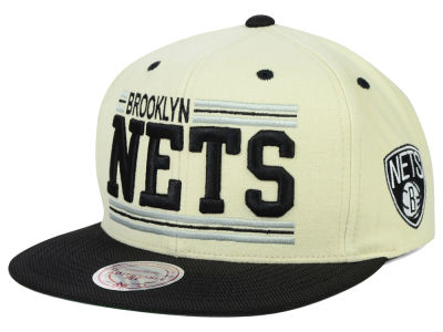 Brooklyn Nets Mitchell and Ness NBA Bar'd Up Snapback Cap