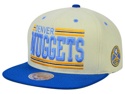 Denver Nuggets Mitchell and Ness NBA Bar'd Up Snapback Cap