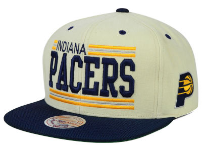 Indiana Pacers Mitchell and Ness NBA Bar'd Up Snapback Cap