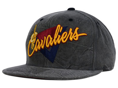 Cleveland Cavaliers Mitchell and Ness NBA Creased Script Snapback Cap