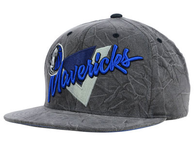 Dallas Mavericks Mitchell and Ness NBA Creased Script Snapback Cap