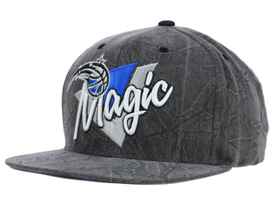 Orlando Magic Mitchell and Ness NBA Creased Script Snapback Cap