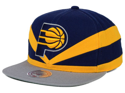 Indiana Pacers Mitchell and Ness NBA Slasher Snapback Cap