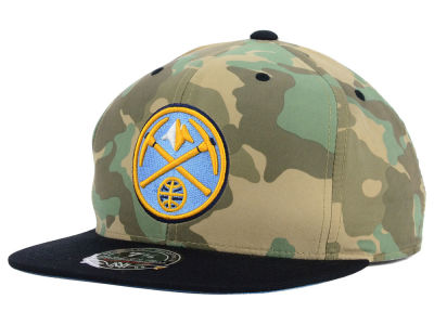 Denver Nuggets Mitchell and Ness NBA Ambush Fitted Cap