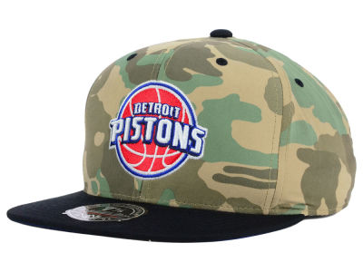 Detroit Pistons Mitchell and Ness NBA Ambush Fitted Cap