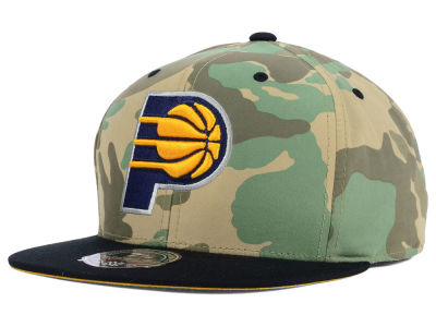 Indiana Pacers Mitchell and Ness NBA Ambush Fitted Cap