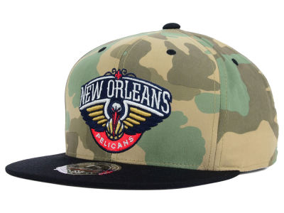 New Orleans Pelicans Mitchell and Ness NBA Ambush Fitted Cap