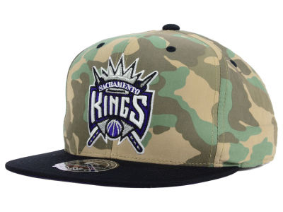 Sacramento Kings Mitchell and Ness NBA Ambush Fitted Cap