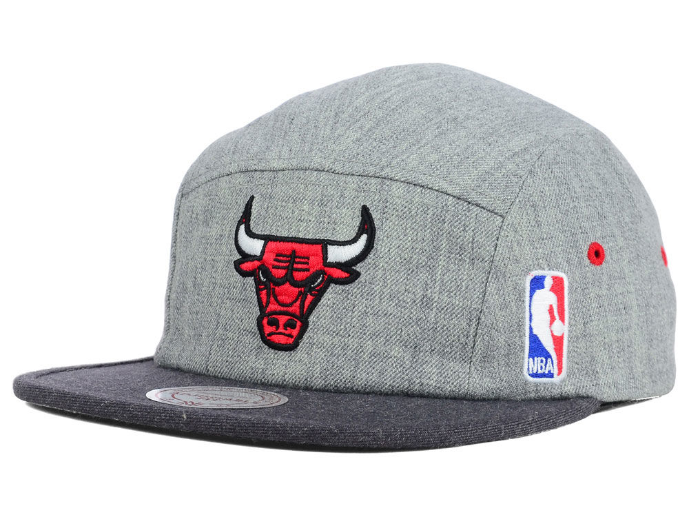 the latest 205da be49a ... snapback hat black logo cap 6e77e 9eb10  spain chicago bulls mitchell  ness nba heather 2 tone 5 panel cap 4d2b2 0ce49