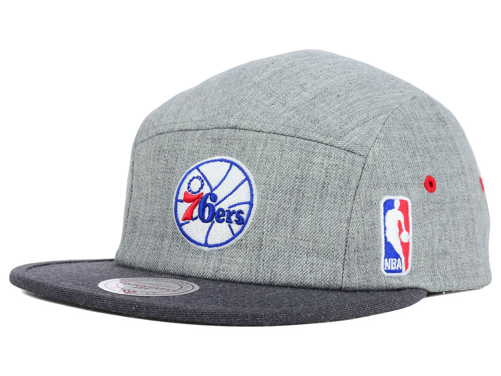 Philadelphia 76ers Mitchell   Ness NBA Heather 2 Tone 5 Panel Cap ... 8d15a30d7de8
