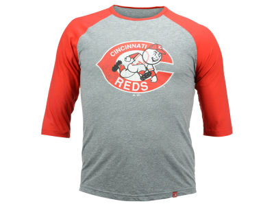 Cincinnati Reds Johnny Bench MLB Men's Cooperstown Home Stretch Player Raglan Shirt