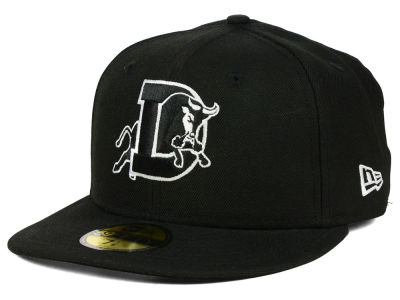 Durham Bulls New Era MiLB Black and White 59FIFTY Cap