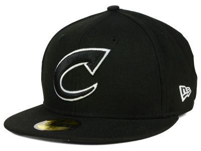 Columbus Clippers New Era MiLB Black and White 59FIFTY Cap