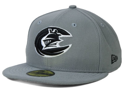 Charlotte Knights New Era MiLB Gray Black White 59FIFTY Cap