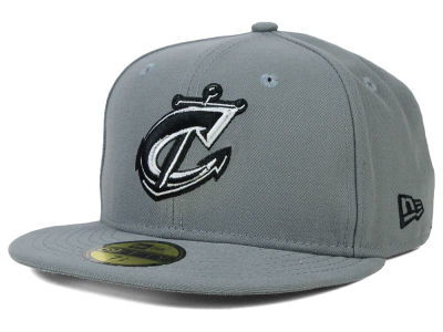 Columbus Clippers New Era MiLB Gray Black White 59FIFTY Cap