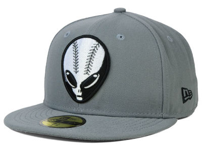 Las Vegas 51s New Era MiLB Gray Black White 59FIFTY Cap