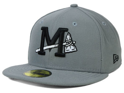 Mississippi Braves New Era MiLB Gray Black White 59FIFTY Cap