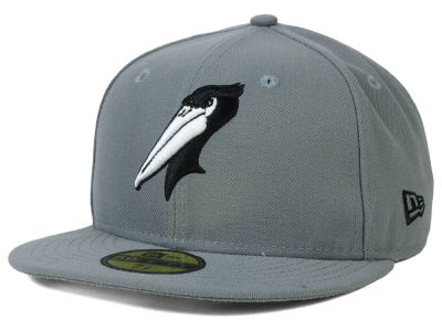 Myrtle Beach Pelicans New Era MiLB Gray Black White 59FIFTY Cap