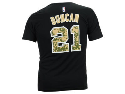San Antonio Spurs Tim Duncan adidas NBA Men's Player Pride T-Shirt