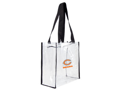 Chicago Bears Clear Square Zip Tote