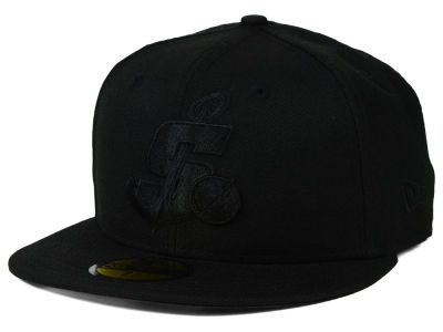 Stockton Ports New Era MiLB Black on Black 59FIFTY Cap