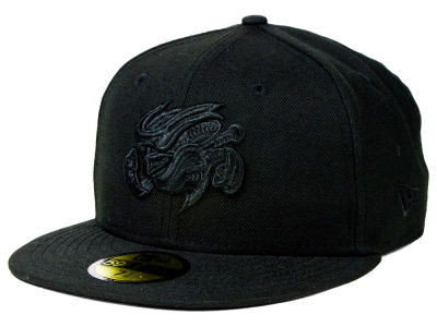 Omaha Storm Chasers New Era MiLB Black on Black 59FIFTY Cap