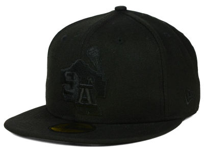 San Antonio Missions New Era MiLB Black on Black 59FIFTY Cap
