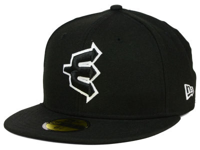 Everett AquaSox New Era MiLB Black and White 59FIFTY Cap