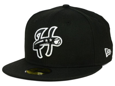 Harrisburg Senators New Era MiLB Black and White 59FIFTY Cap