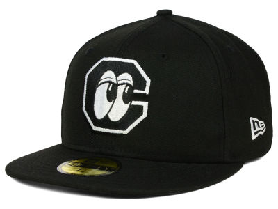 Chattanooga Lookouts New Era MiLB Black and White 59FIFTY Cap