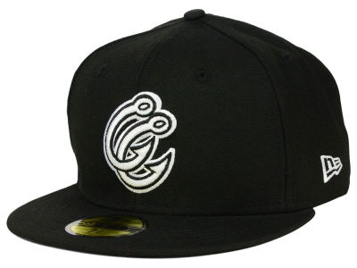 Corpus Christi Hooks New Era MiLB Black and White 59FIFTY Cap