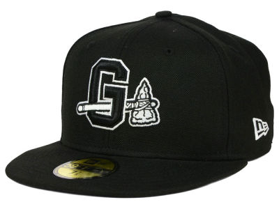 Gwinnett Braves New Era MiLB Black and White 59FIFTY Cap