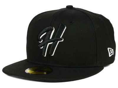 Hillsboro Hops New Era MiLB Black and White 59FIFTY Cap