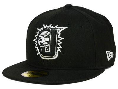 Jacksonville Suns New Era MiLB Black and White 59FIFTY Cap