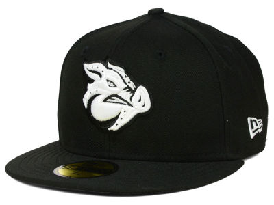 Lehigh Valley IronPigs New Era MiLB Black and White 59FIFTY Cap