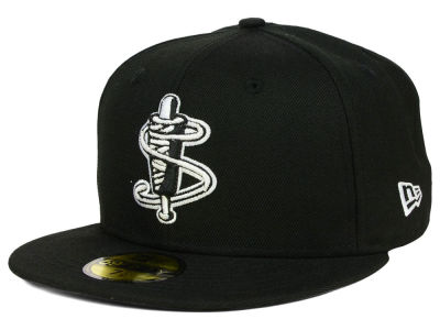 Lowell Spinners New Era MiLB Black and White 59FIFTY Cap